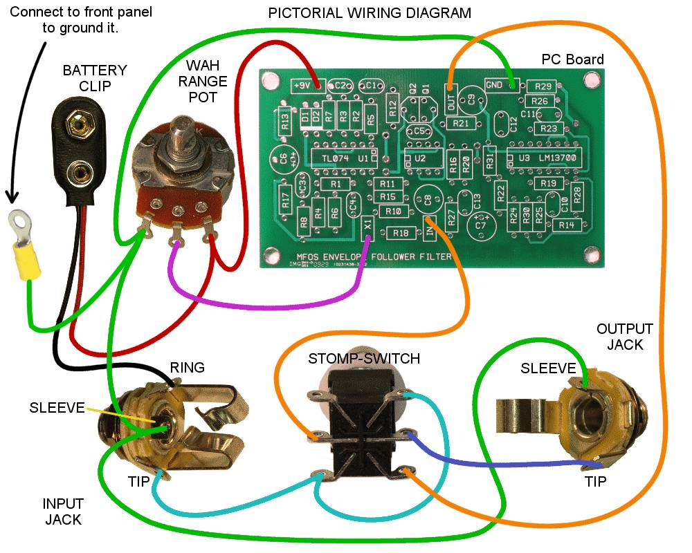 Complete Instructions For Building An Envelope Follower Filter Guitar Effect Schematic Dpdt Stomp Switch States
