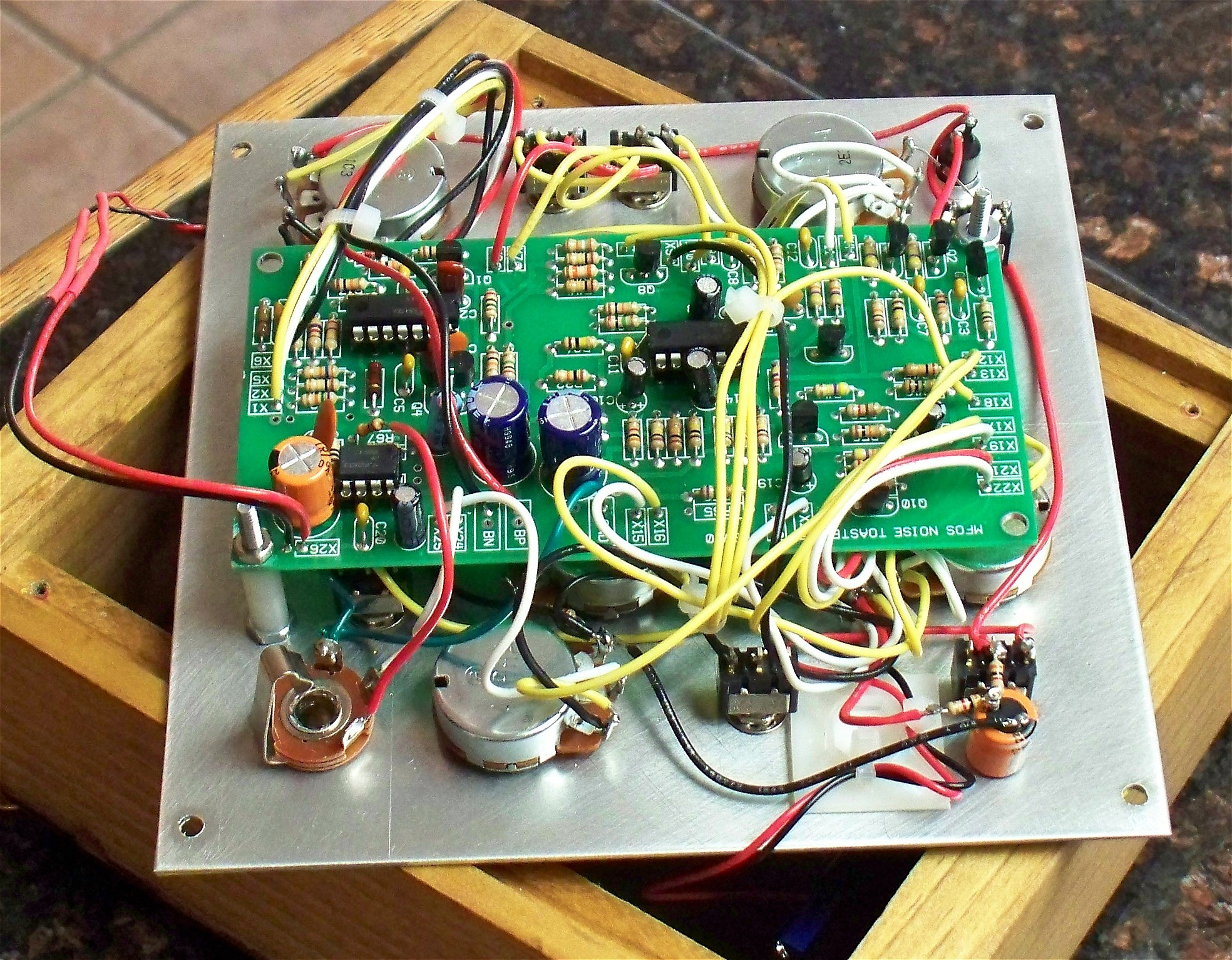 Mfos Noise Toaster Starting To Mount The Lockin Amplifier Circuit Board And Panelmount